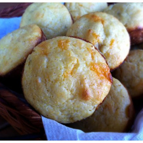 Roasted Chile and Cheddar Corn Muffins