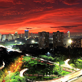 Sunset City Of Jakarta by Agustinus Tri Mulyadi - City,  Street & Park  City Parks ( sunset, cityscape,  )