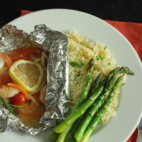 Easy Fish and Shrimp Packets