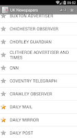 Screenshot of UK Press - Newspapers