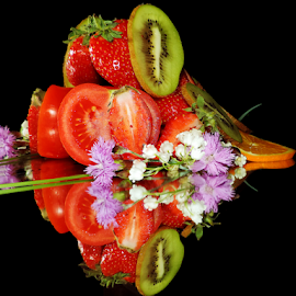 fruits,vegetables with the flowers  by LADOCKi Elvira - Food & Drink Fruits & Vegetables ( fruits )