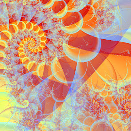 Universal Happiness by Nancy Bowen - Illustration Abstract & Patterns ( abstract, circles, spirals, bright )