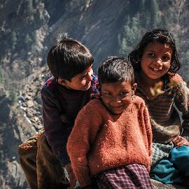 Hill Children by Prasanta Das - Babies & Children Children Candids ( children, shy, natural )
