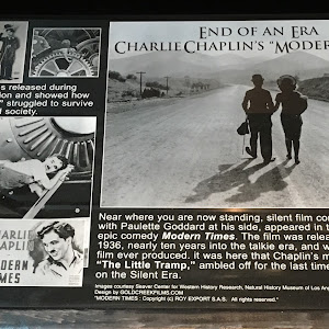 "End of an Era —  Charlie Chaplin's ""Modern Times"".  Near where you are now standing, silent film comic Charlie Chaplin, with Paulette Goddard at his side, appeared in the final scene of the epic ..."