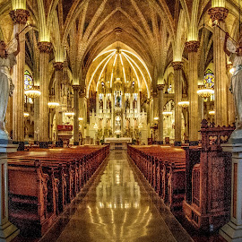 Entry Way by Angelica Less - Buildings & Architecture Places of Worship ( angels, church, catholic, historical, interior )
