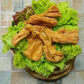 Yuba Tofu Skin Fried by Amiya Velayo - Food & Drink Cooking & Baking