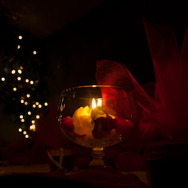 night light by Paul Drajem - Artistic Objects Glass ( light exposuree, candle, glass, drinking glass, night, decorations, night shot, light )