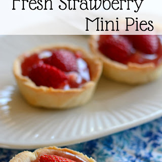 Dairy Free Easy Strawberry Mini Pies