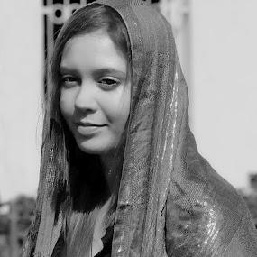 Like a Saint by Dragan Nikolić - Black & White Portraits & People (  )
