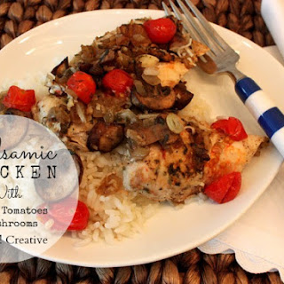 Balsamic Chicken With Cherry Tomatoes & Mushrooms