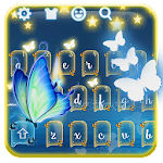 Neon butterfly keyboard theme Icon