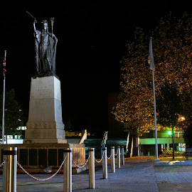 Britannia War Memorial, Crewe by Mike Christelow - Buildings & Architecture Statues & Monuments ( war memorial, crewe, night time )