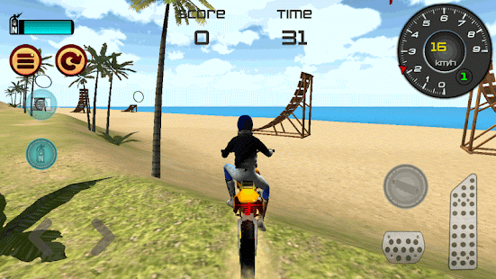 Game Motocross Beach Jumping 3D