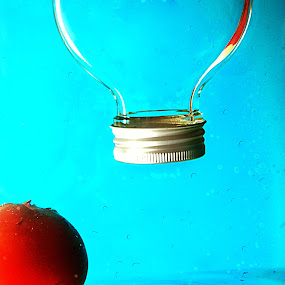 upside down by Jenni Ertanto - Artistic Objects Other Objects ( water, fruit, red, blue, bottle )