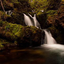 by Jana Pate - Nature Up Close Water ( water, nature, green, waterfall, long exposure )