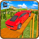 Wooden Platform Car Driving