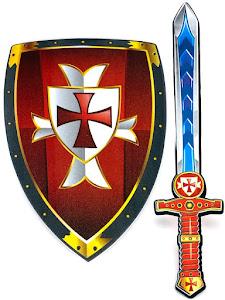 """Игровой набор """"Играем с папой"""", щит и меч, красный"""