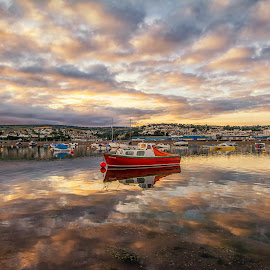 Teignmouth Harbour, England by Graeme Hunter - Landscapes Sunsets & Sunrises