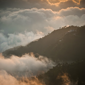 clouds and mountain by Infected Gallery - Landscapes Cloud Formations ( clouds, mountain, nature, top view, location, dark and light, holiday destination, pwcsunbeams-dq, sunset view, sunrise,  )