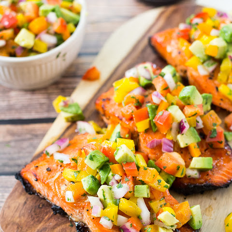 Easy BBQ Salmon with Avocado Salsa