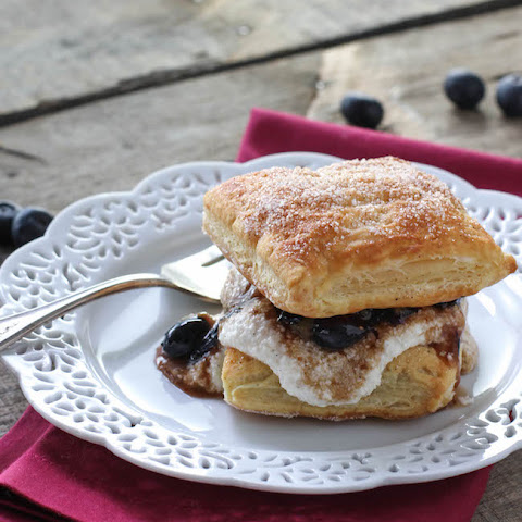 Balsamic Blueberry Mille-Feuille
