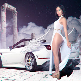 Uber of the gods by Perry Cucinotta - Digital Art People ( temple, angel, sexy, greek, ferrari, goddess, asian )
