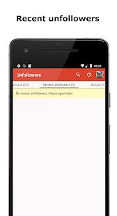 Unfollowers for Instagram app