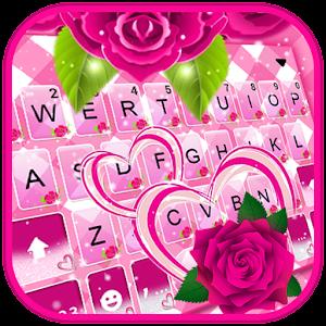 Pink Roses Keyboard Theme Online PC (Windows / MAC)