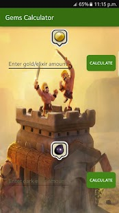 App Gems sheet for Clash of Clans apk for kindle fire
