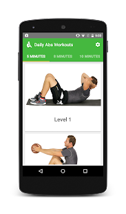 Fitway: Daily Abs Workout free Fitness app screenshot for Android