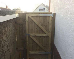 completed a custom gate in exeter | Paul Jackson Landscaping & Fencing