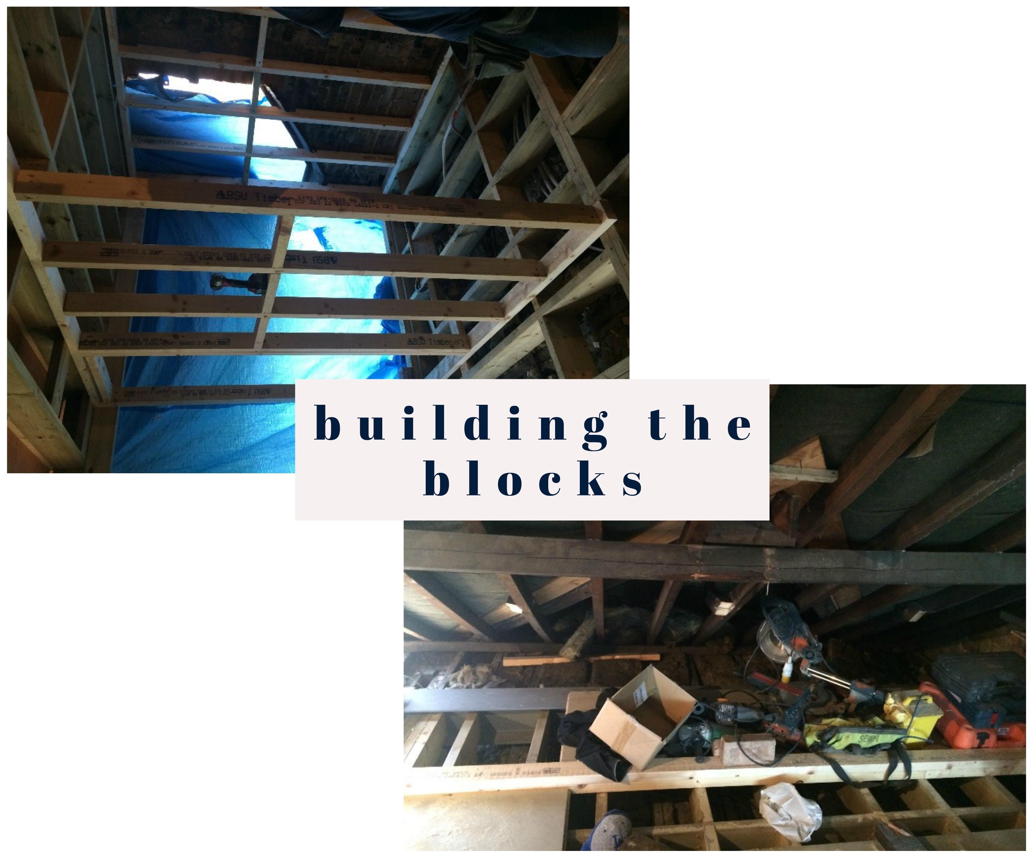 building the blocks