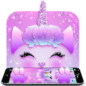 Galaxy Cute Unicorn Glitter Theme