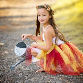 watering can  by Wendy Berning - Babies & Children Child Portraits ( love, girl, toddler, cute, smiles )