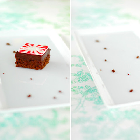 ULTIMATE PEPPERMINT GANACHE BROWNIES