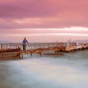 long exposure by Ömür Kahveci - Landscapes Travel ( fineart, waves, seascape, longexposure, man )