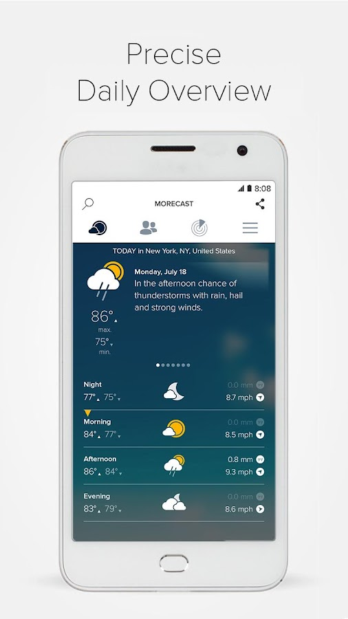 Morecast™ - Weather Forecast with Radar & Widget Screenshot 3