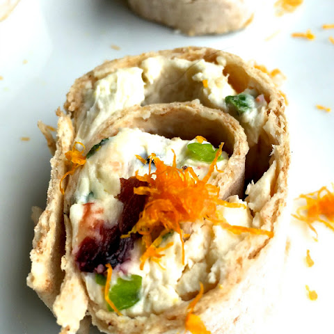 Orange Cranberry Pinwheels Appetizer