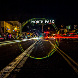 north park nigh time  by Roman Gomez - Digital Art Places ( san diego, north park, roman gomez, romansgalley )