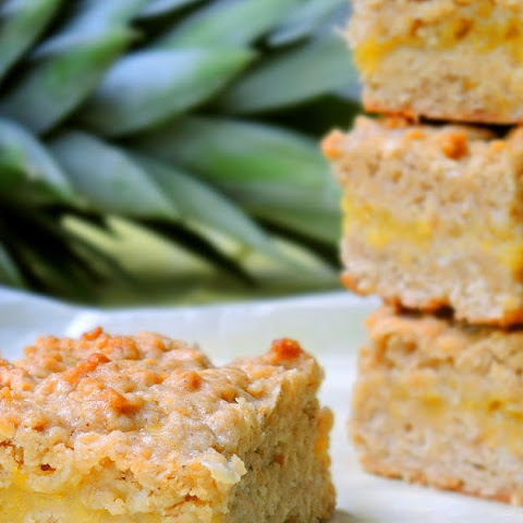 Tropical Oat Bars with Pineapple & Coconut