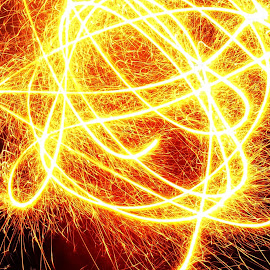 Ngaburinyay by Dedi Sukardi - Abstract Fire & Fireworks ( abstract, fireworks, night, light )