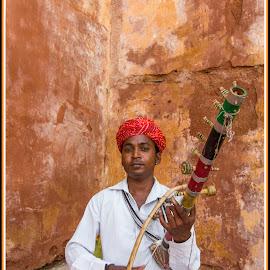 Ravanahatha  by Kishore Bakshi - People Musicians & Entertainers ( music, musical instrument, musician, instrument, ravanahatha )