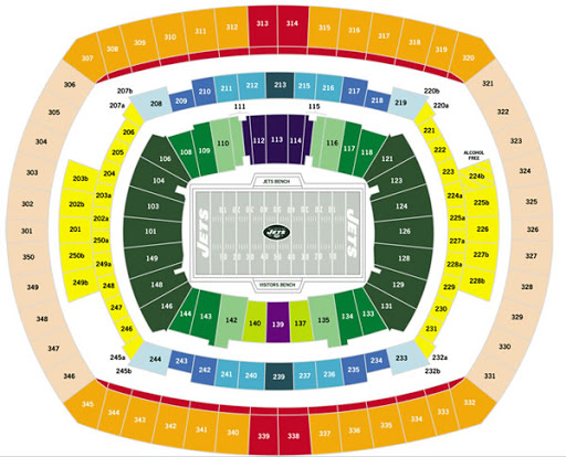 New York Jets Ticket Rights For Nfl Mlb Car Racing
