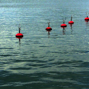 Buoys by Leif Holmberg - Artistic Objects Other Objects ( water, boating, buoy, sea, buoys,  )