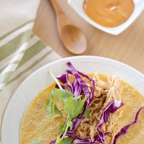 Healthy Slow Cooker Cashew Chicken Tacos