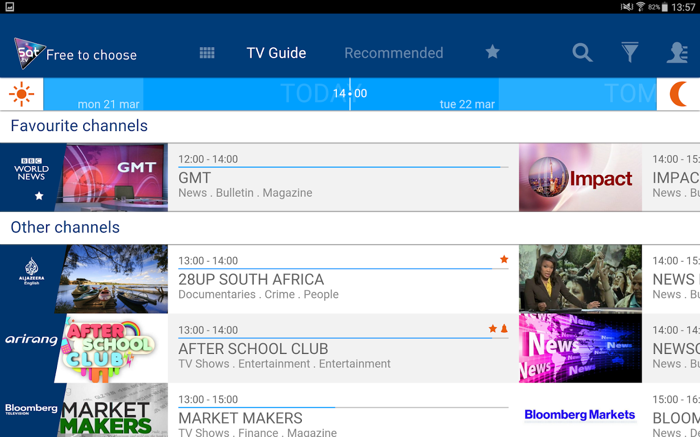 Free HOT BIRD TV guide Screenshot 5
