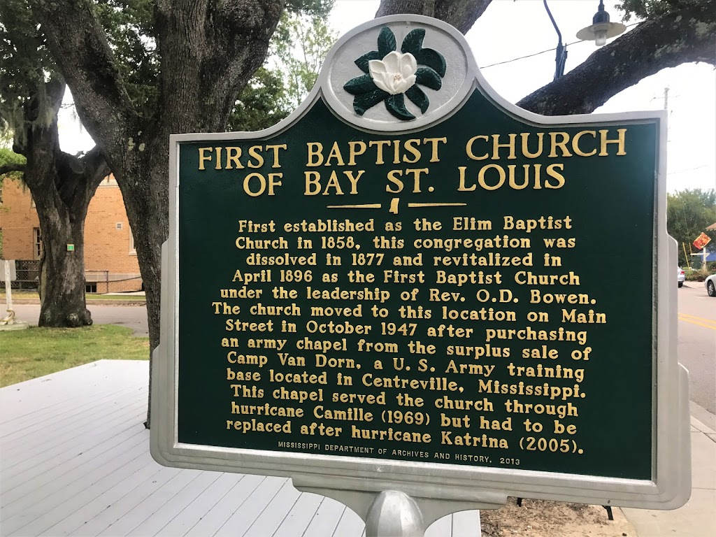 First established as the Elim Baptist Church in 1858, this congregation was dissolved in 1877 and revitalized in April 1896 as First Baptist Church under the leadership of Rev. O.D. Bowen. The church ...