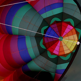Lisle hot air balloon by Sharon Scholtes - Abstract Fine Art ( abstract, red, pattern, blue, green, hot, air, yellow, balloon, black )