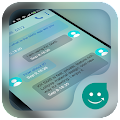 KK SMS Frosted Glass Theme APK for Bluestacks