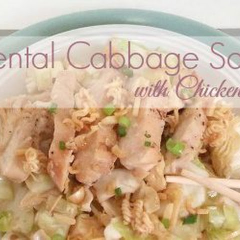 Mouth-Watering Oriental Cabbage Salad with Chicken